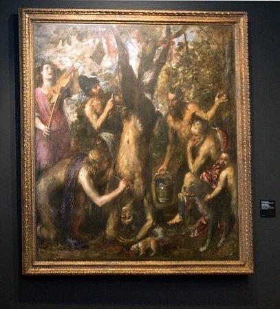 Tiziánův obraz Apollón a Marsyas