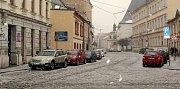 Sněžení v Olomouci v pátek 17. února