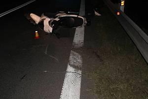 Noční nehoda motorkáře ve Šternberku, 21. 8. 2020
