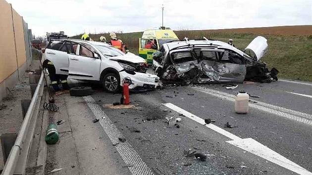 Nehoda na obchvatu Zvole 23. dubna 2021