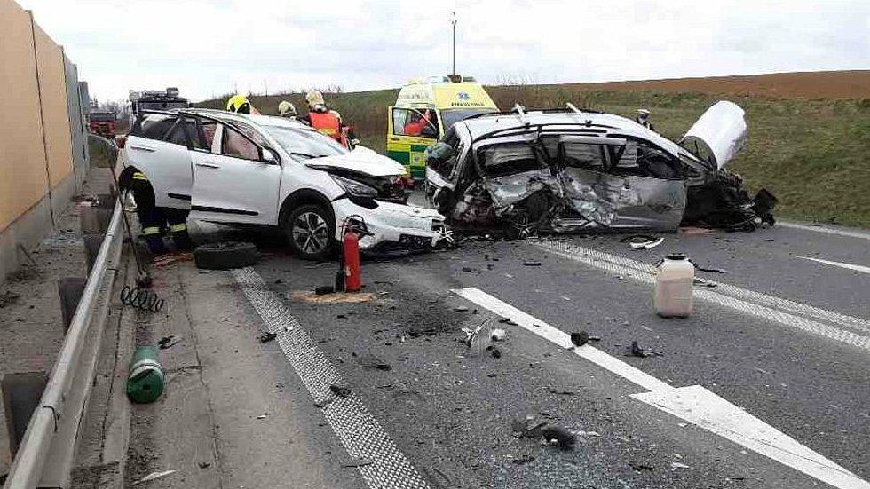 Nehoda na obchvatu Zvole v 23. dubna 2021