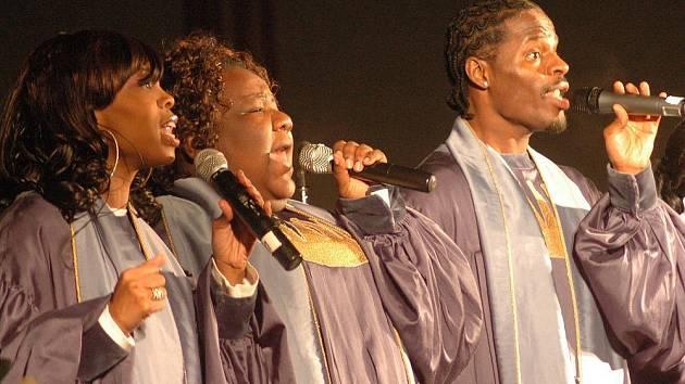 Vystoupení The Very Best of Black Gospel v olomouckém kostele sv. Mořice.