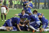 Radost Sigmy po zisku českého poháru v květnu 2012