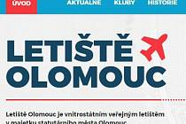 Nový web olomouckého letiště