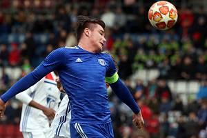 Pavel Zifčák v utkání devatenáctky Sigmy s Lyonem