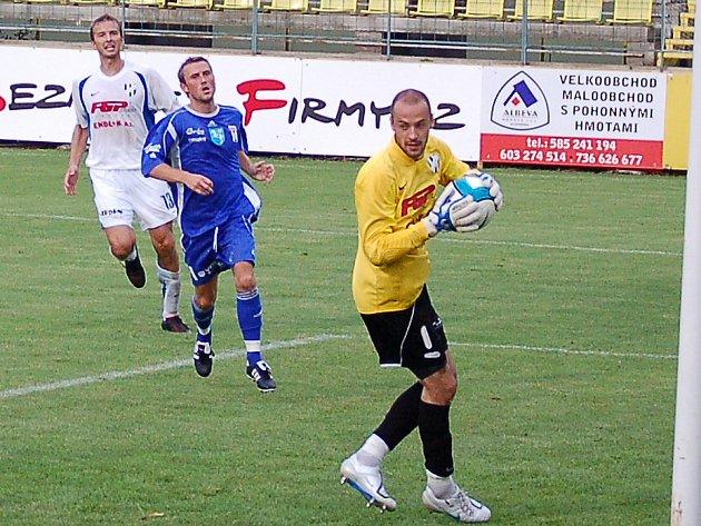 Brankář Martin Doležal ještě v dresu HFK Olomouc.