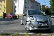 Nehoda na křižovatce tř. Svornosti a ulice Dvořákovy.
