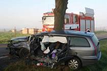Tragická nehoda u Samotišek v sobotu 2. října ráno