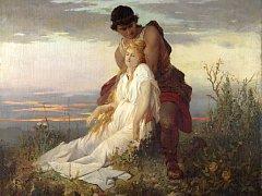 Václav Brožík, Smrt sv. Irie, 1873