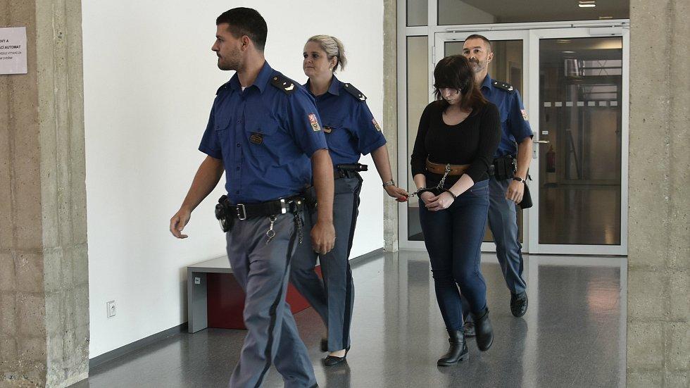 Alena G., odsouzená za vraždu tříleté dcery u krajského soudu v Olomouci, 31. 8. 2020