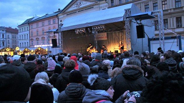 František Nedvěd na vánočních trzích v Olomouci