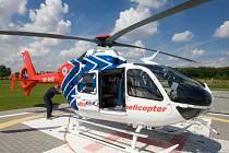 Heliport letecké záchranné služby v Olomouci. Ilustrační foto