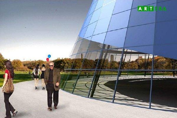 Vizualizace vyhlídky centra Spritualia vareálu BEA centra
