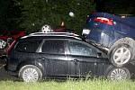 Noční nehoda v Mohelnické ulici v Uničově