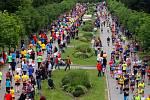 Olomoucký půlmaraton probíhá Smetanovými sady. Ilustrační foto
