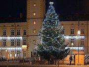Za nejkrásnější vánoční strom roku 2016 vybrali čtenáři smrk, který stál na náměstí v Litovli.