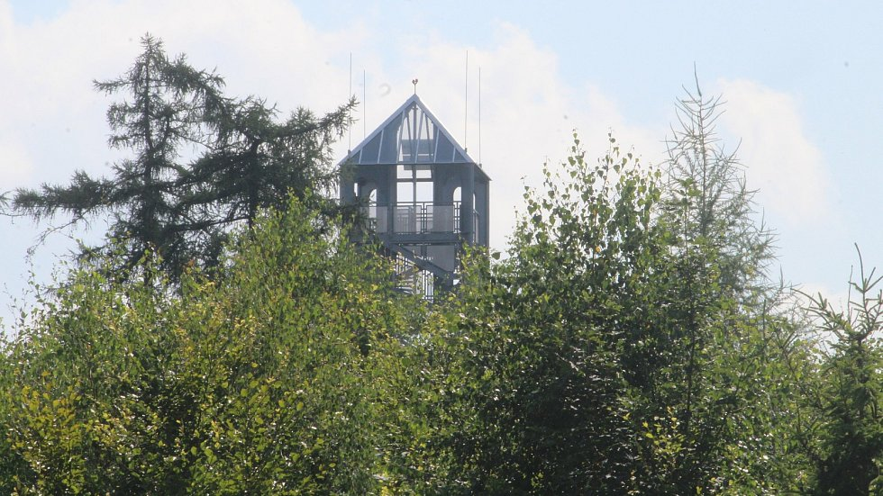 Rozhledna Halaška u Budišova nad Budišovkou, červenec 2021