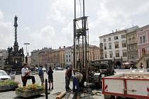 Vrtání na Dolním náměstí vzbudilo pozornost