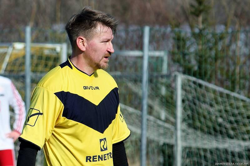 Marek Heinz ve všechovickém dresu v zápase zimní přípravy. Únor 2020