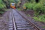 Zával na trati mezi Hrubou Vodou a Domašovem nad Bystřicí zastavil v září 2010 vlaky