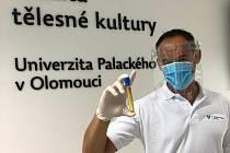 Vedoucí výzkumného projektu Michal Botek zKatedry přírodních věd vkinantropologii zFakulty tělesné kultury UP v Olomouci.