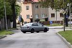 Uzavřená Erenburgova ulice v olomoucké čtvrti Hejčín