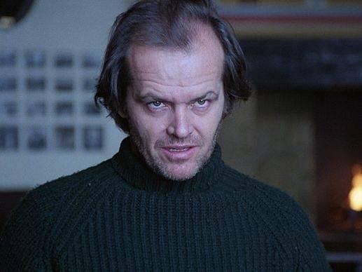 Jack Nicholson v Kubrickově hororu Osvícení