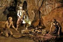 Jedno z diorámat v Mladečských jeskyních