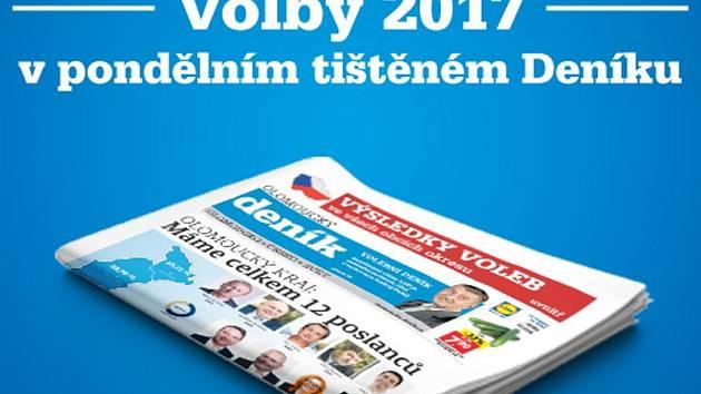 Volby 2017 v Olomouckém kraji podrobně v pondělním tištěném Deníku