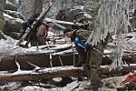 Extrémní armádní závod Winter Survival v Jeseníkách