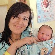 Šimon Šalamon, Litovel, narozen 26. září v Olomouci, míra 49 cm, váha 2750 g.