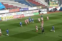 Olomouci s Pardubicemi podle všeho upřeli rozhodčí regulérní gól. Martin Hála nebyl v ofsajdu po přihrávce Jaroslava Mihalíka.