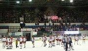 Fanoušci HC Olomouc popřáli hokejistům Mory vše nejlepší do nového roku.