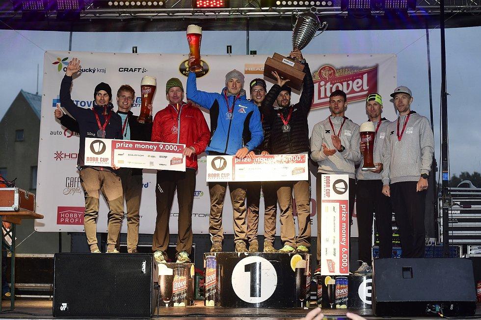 Vítězný tým Pivovar Litovel, stříbrné trio Auto Hlaváček a bronzové družstvo Kalokagathia Aliance.