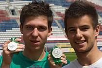 Stříbrní medailisté z EURA U 19 Tomáš Přikryl a Martin Hála