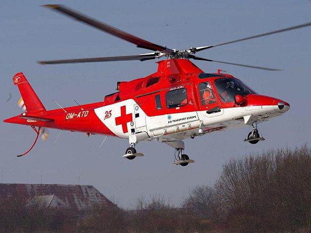 Vrtulník letecké záchranky v Olomouci Agusta A109K2