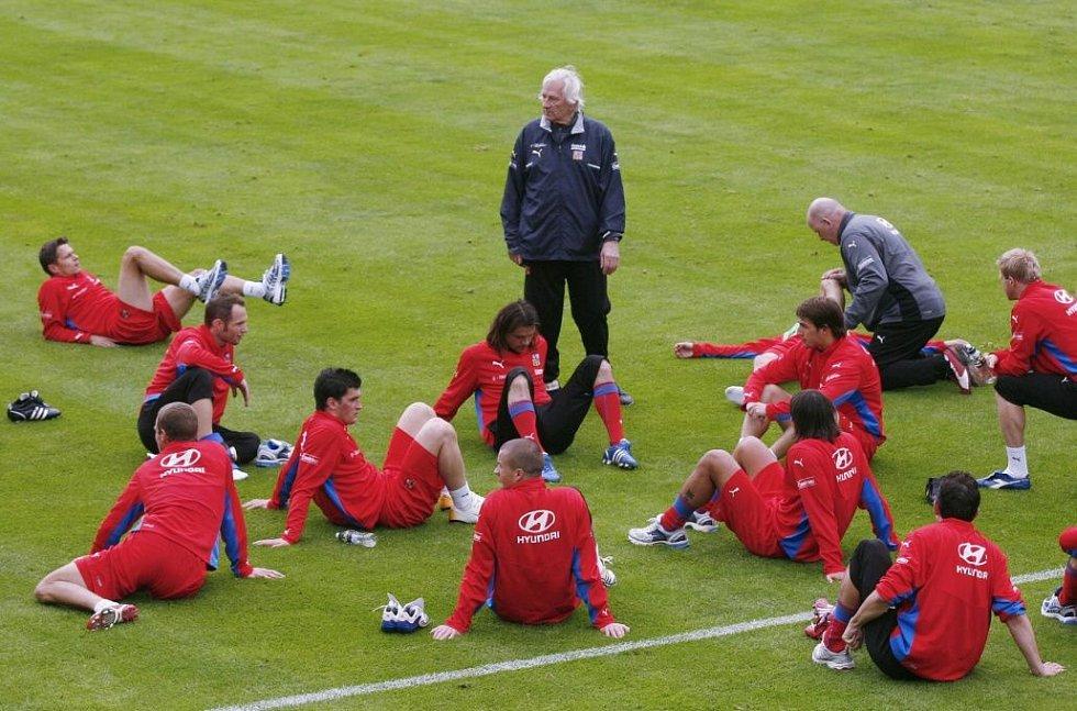 červen 2008. Reprezentační trénink v Rakousku