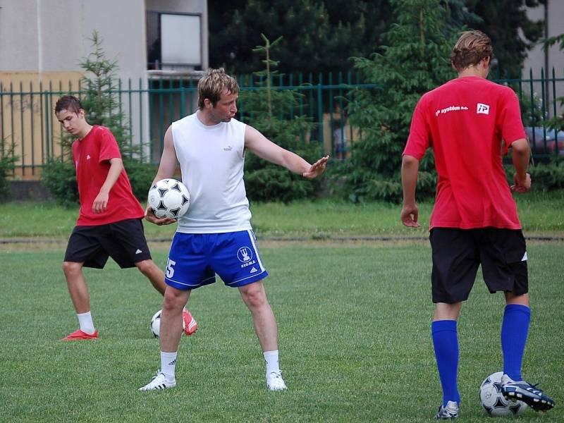 David Kobylík trénoval žáky Sigmy.