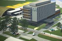 Vizualizace nového hotelu u stadionu Sigmy