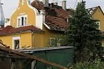 Vila Gustava Frištenského v Litovli po zásahu tornáda 9. června 2004