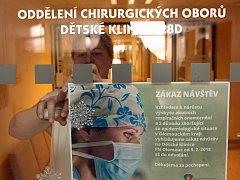 Zákaz návštěv na dětské klinice FNOL.