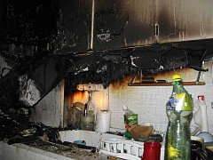 Požár kuchyně způsobil škodu za sto tisíc.