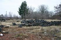 Skládka pneumatik na Nové Ulici