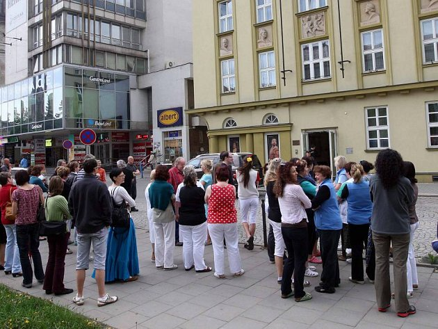 Požární cvičení v Moravském divadle Olomouc