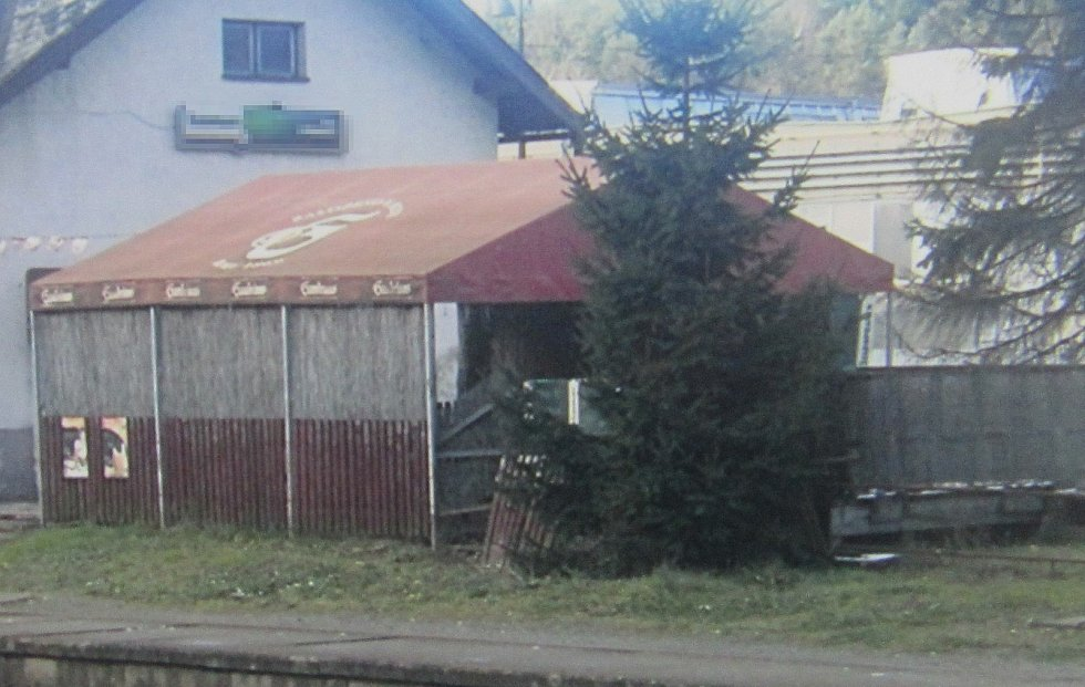 Pergola u pivnice v Hrubé Vodě, místní části Hluboček