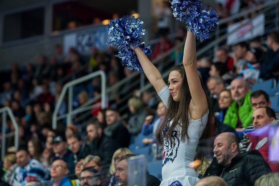 Bílí Tygři Liberec proti HC Olomouc.
