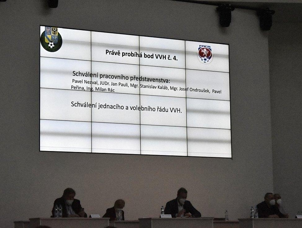 Volební valná hromada Olomouckého krajského fotbalového svazu v BEA centru. 31.3. 2021