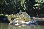 Chobotnice od Viktora Paluše se vrátila do jezírka ve Smetanových sadech.