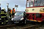 Srážka vlaku s autem mezi Odrlicemi  a Dubčany