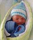 Mathias Jan Blaha, Olomouc, narozen 1. dubna, míra 50 cm, váha 3080 g